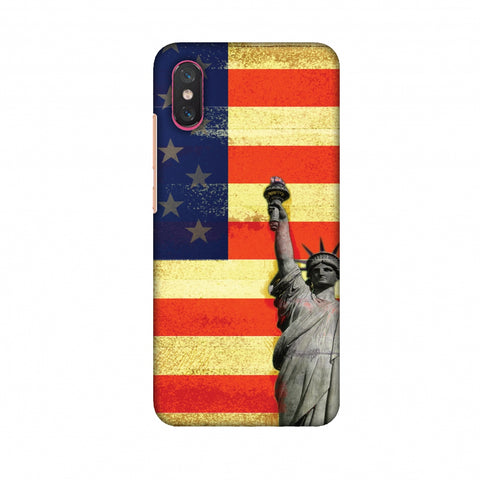 Rustic Liberty US Flag Slim Hard Shell Case For Xiaomi Mi 8 Pro