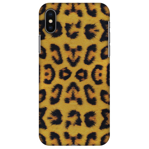 Wild Leopard Slim Hard Shell Case For Apple iPhone X