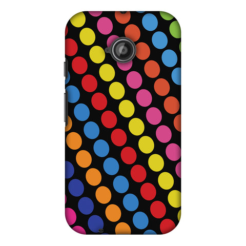 Funky Dot Stripes Slim Hard Shell Case For Motorola Moto E 2nd Gen