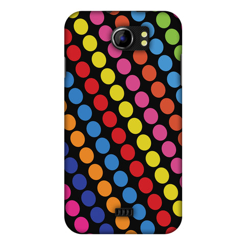 Funky Dot Stripes Slim Hard Shell Case For Micromax Canvas 2 A110