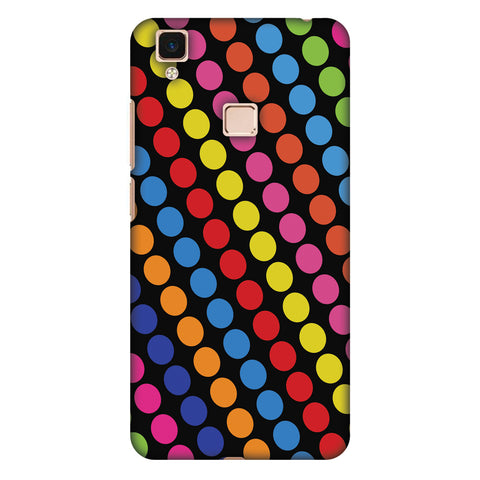 Funky Dot Stripes Slim Hard Shell Case For Vivo V3 Max