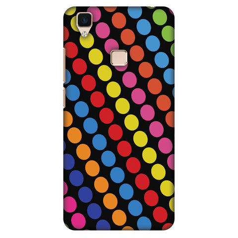 Funky Dot Stripes Slim Hard Shell Case For Vivo V3