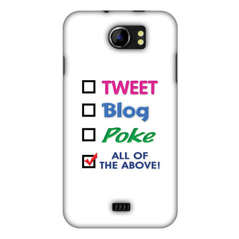Tweet Slim Hard Shell Case For Micromax Canvas 2 A110