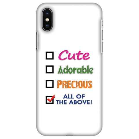 Cute Slim Hard Shell Case For Apple iPhone X