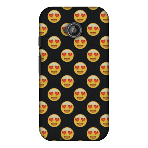 Emoji Love Slim Hard Shell Case For Motorola Moto E 2nd Gen