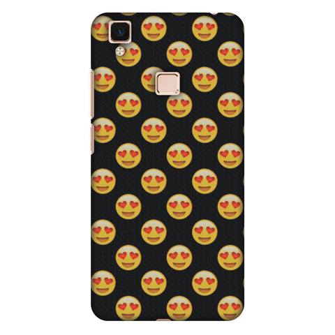 Emoji Love Slim Hard Shell Case For Vivo V3 Max