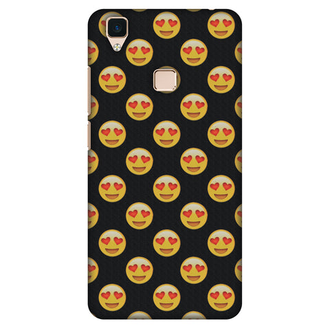 Emoji Love Slim Hard Shell Case For Vivo V3