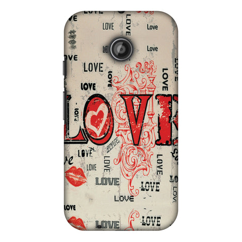 Enchanted Love Slim Hard Shell Case For Motorola Moto E 2nd Gen