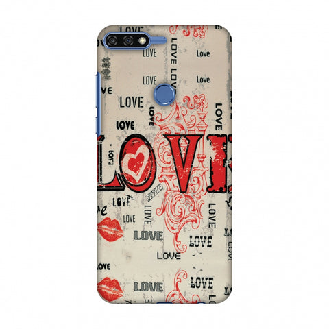 Enchanted Love Slim Hard Shell Case For Huawei Honor 7C