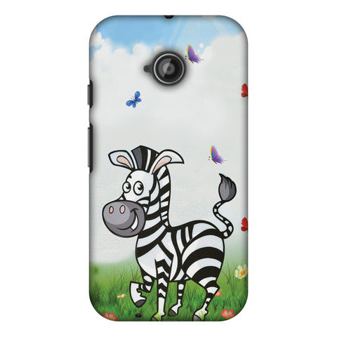 Lexi Zebra Slim Hard Shell Case For Motorola Moto E 2nd Gen