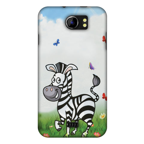 Lexi Zebra Slim Hard Shell Case For Micromax Canvas 2 A110
