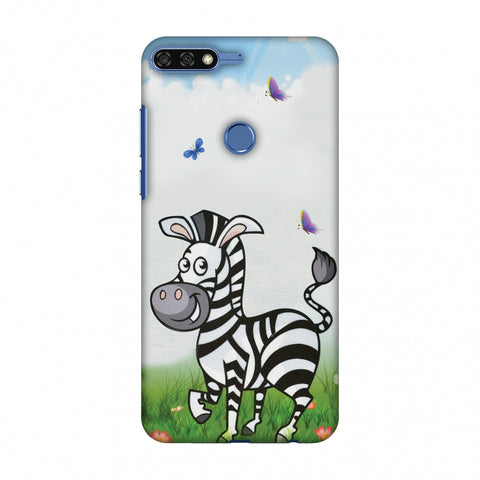 Lexi Zebra Slim Hard Shell Case For Huawei Honor 7C