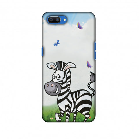 Lexi Zebra Slim Hard Shell Case For Oppo Realme C1