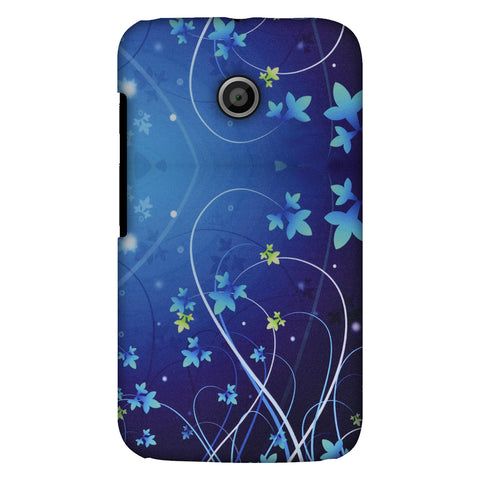 Midnight Lily Slim Hard Shell Case For Motorola Moto E