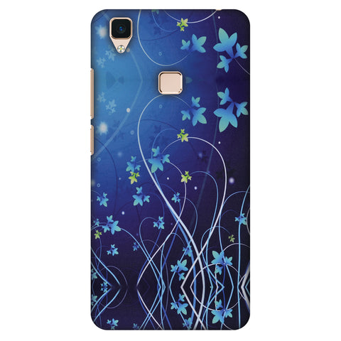 Midnight Lily Slim Hard Shell Case For Vivo V3