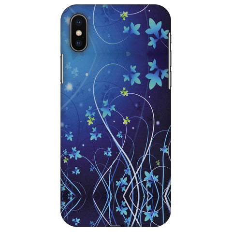 Midnight Lily Slim Hard Shell Case For Apple iPhone X