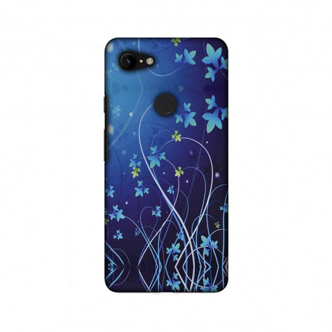 Midnight Lily Slim Hard Shell Case For Google Pixel 3