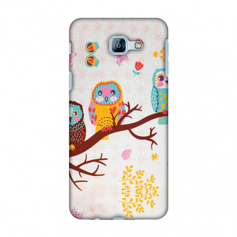 Owls On Branch Slim Hard Shell Case For Samsung Galaxy A8 2016