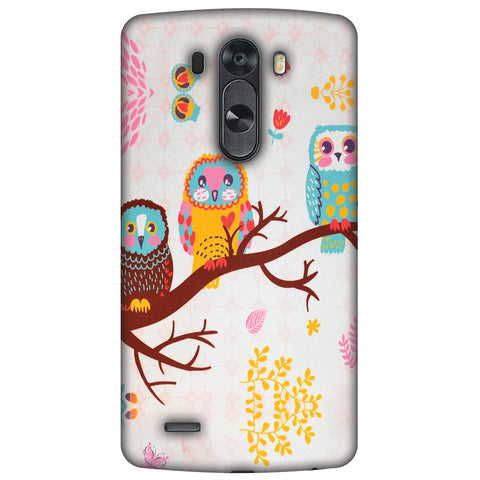 Owls On Branch Slim Hard Shell Case For LG G4