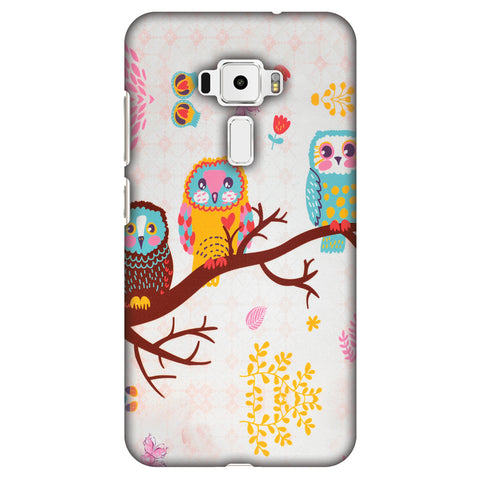 Owls On Branch Slim Hard Shell Case For Asus Zenfone 3 ZE520KL