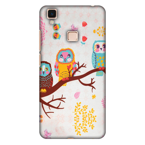 Owls On Branch Slim Hard Shell Case For Vivo V3 Max