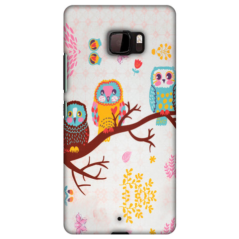 Owls On Branch Slim Hard Shell Case For HTC U Ultra