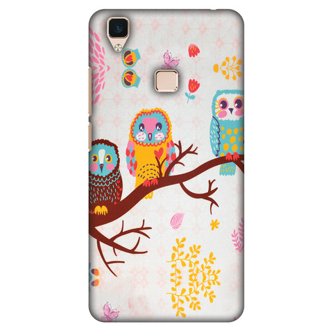 Owls On Branch Slim Hard Shell Case For Vivo V3