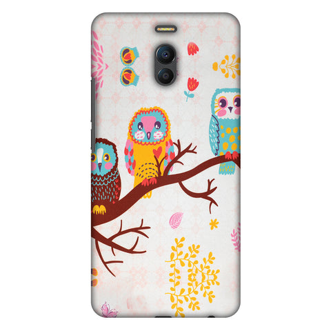 Owls On Branch Slim Hard Shell Case For Meizu Note 6