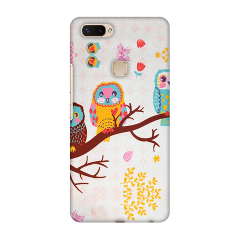Owls On Branch Slim Hard Shell Case For Vivo X20 Plus
