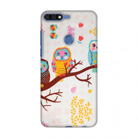 Owls On Branch Slim Hard Shell Case For Huawei Honor 7C