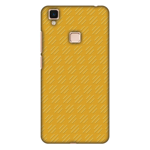 Retro Lines Shape Slim Hard Shell Case For Vivo V3 Max