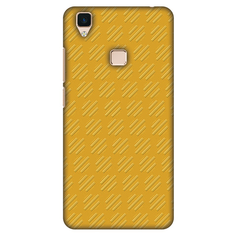 Retro Lines Shape Slim Hard Shell Case For Vivo V3