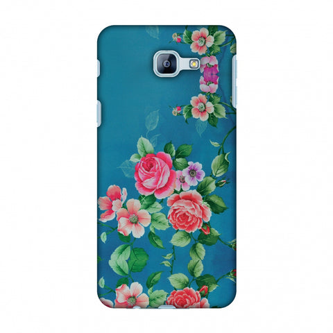 Rose Print Provencal Slim Hard Shell Case For Samsung Galaxy A8 2016