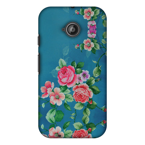Rose Print Provencal Slim Hard Shell Case For Motorola Moto E 2nd Gen