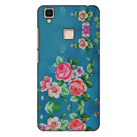 Rose Print Provencal Slim Hard Shell Case For Vivo V3 Max