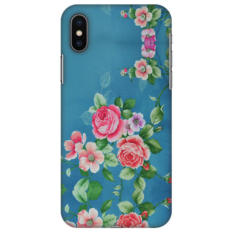 Rose Print Provencal Slim Hard Shell Case For Apple iPhone X