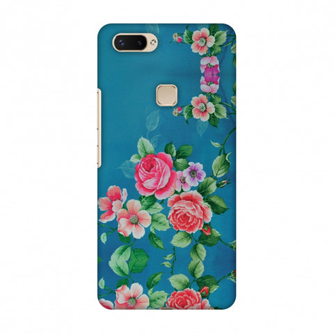 Rose Print Provencal Slim Hard Shell Case For Vivo X20 Plus