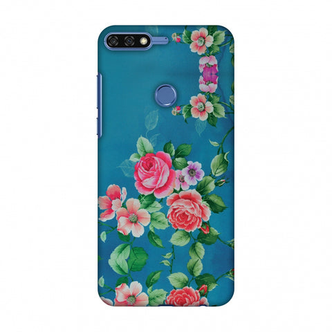 Rose Print Provencal Slim Hard Shell Case For Huawei Honor 7C
