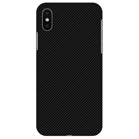 Carbon Black With Texture Slim Hard Shell Case For Apple iPhone X