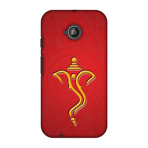 Shri Ganesh Vakratunda Mahakaya Slim Hard Shell Case For Motorola Moto E 2nd Gen