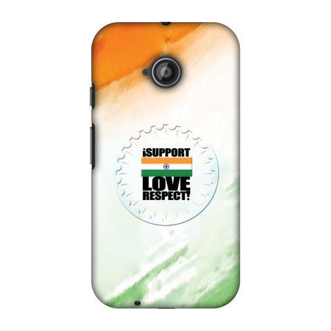 I Support Love India Slim Hard Shell Case For Motorola Moto E 2nd Gen