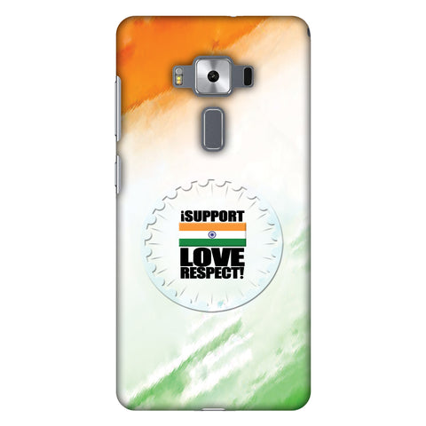 I Support Love India Slim Hard Shell Case For Asus Zenfone 3 Deluxe ZS570KL
