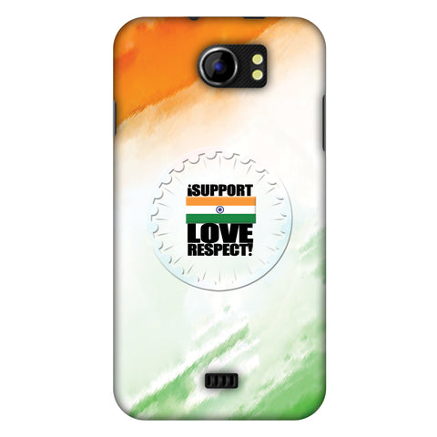 I Support Love India Slim Hard Shell Case For Micromax Canvas 2 A110