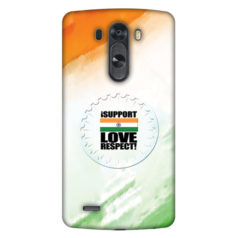 I Support Love India Slim Hard Shell Case For LG G4