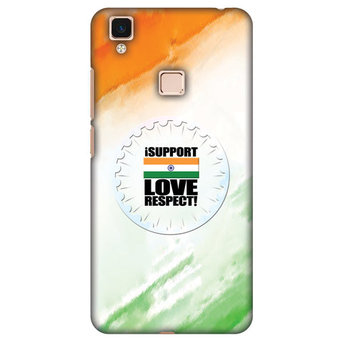I Support Love India Slim Hard Shell Case For Vivo V3 Max