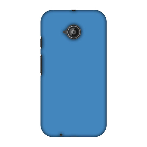 Olympic Blue Slim Hard Shell Case For Motorola Moto E 2nd Gen