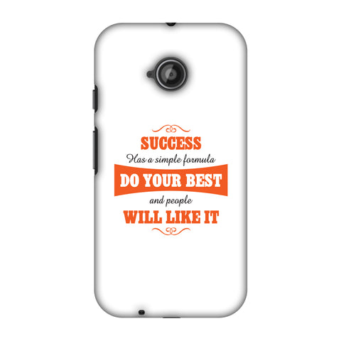 Success Do Your Best Slim Hard Shell Case For Motorola Moto E 2nd Gen