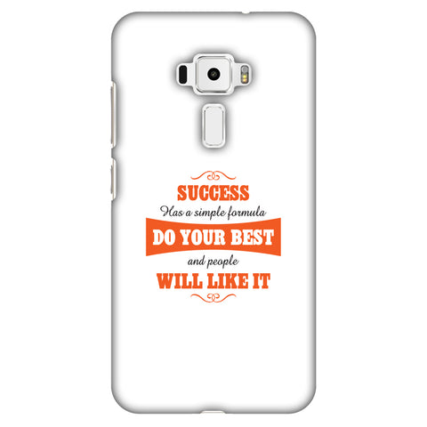 Success Do Your Best Slim Hard Shell Case For Asus Zenfone 3 ZE520KL