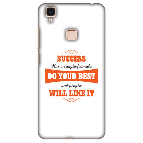 Success Do Your Best Slim Hard Shell Case For Vivo V3 Max