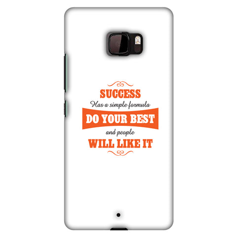 Success Do Your Best Slim Hard Shell Case For HTC U Ultra